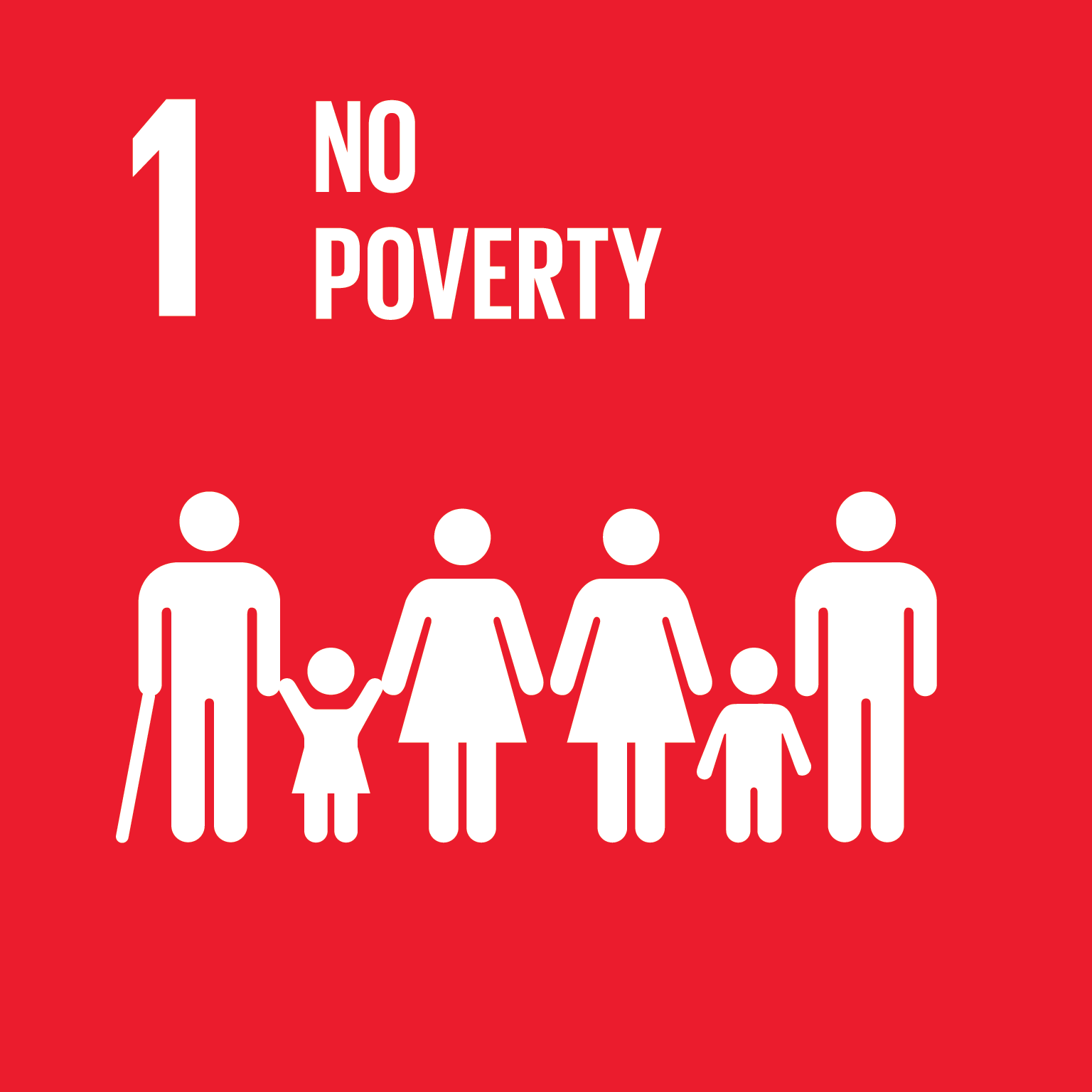 Sustainable Development Goal 1 icon