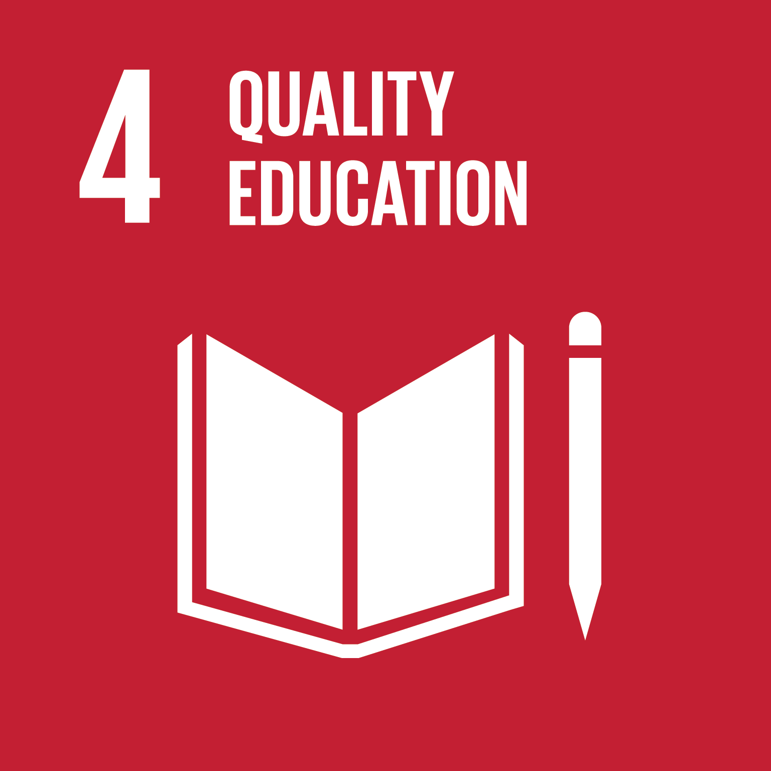 Sustainable Development Goal 4 icon