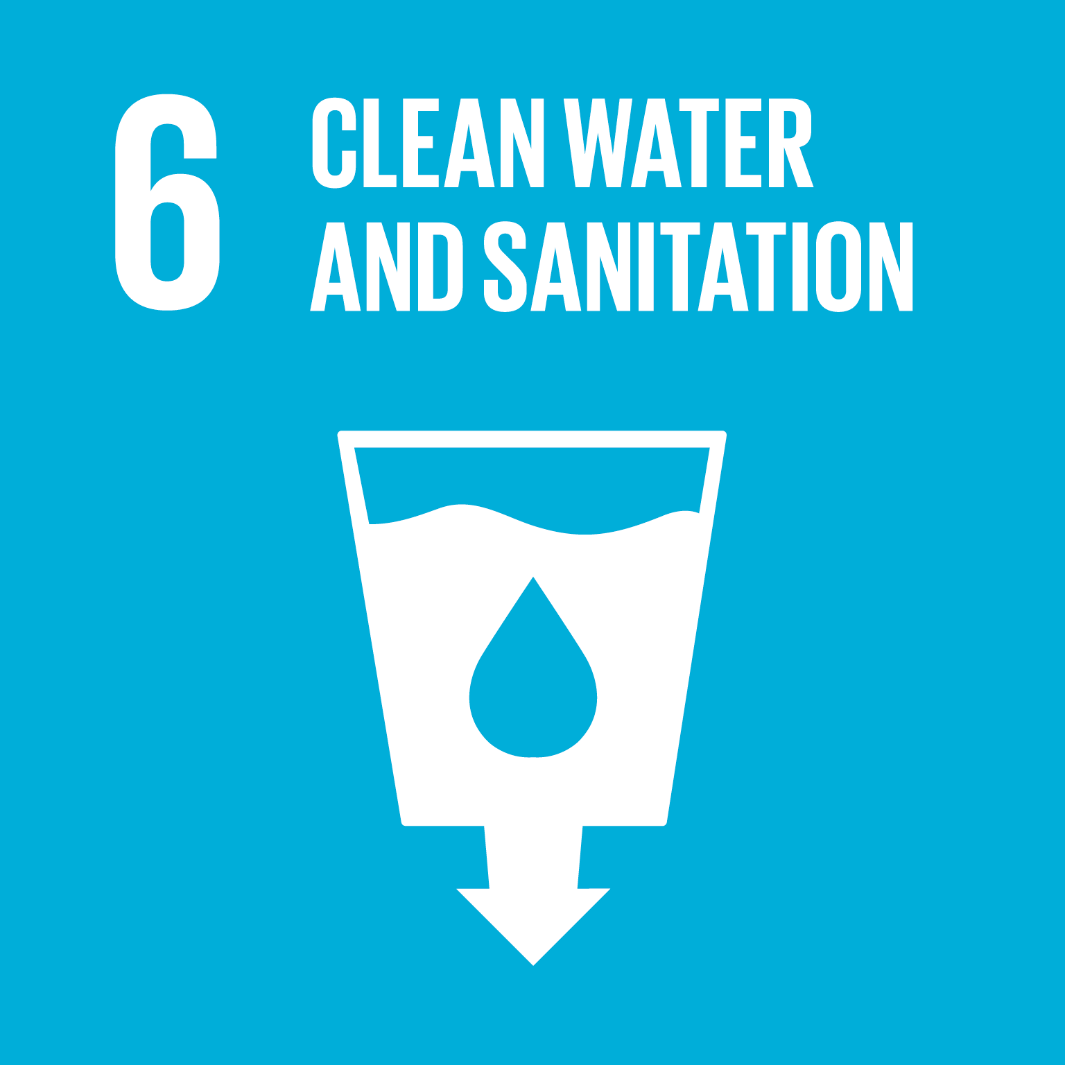 Sustainable Development Goal 6 icon
