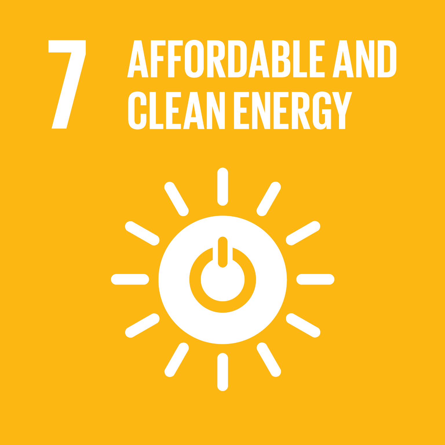 Sustainable Development Goal 7 icon