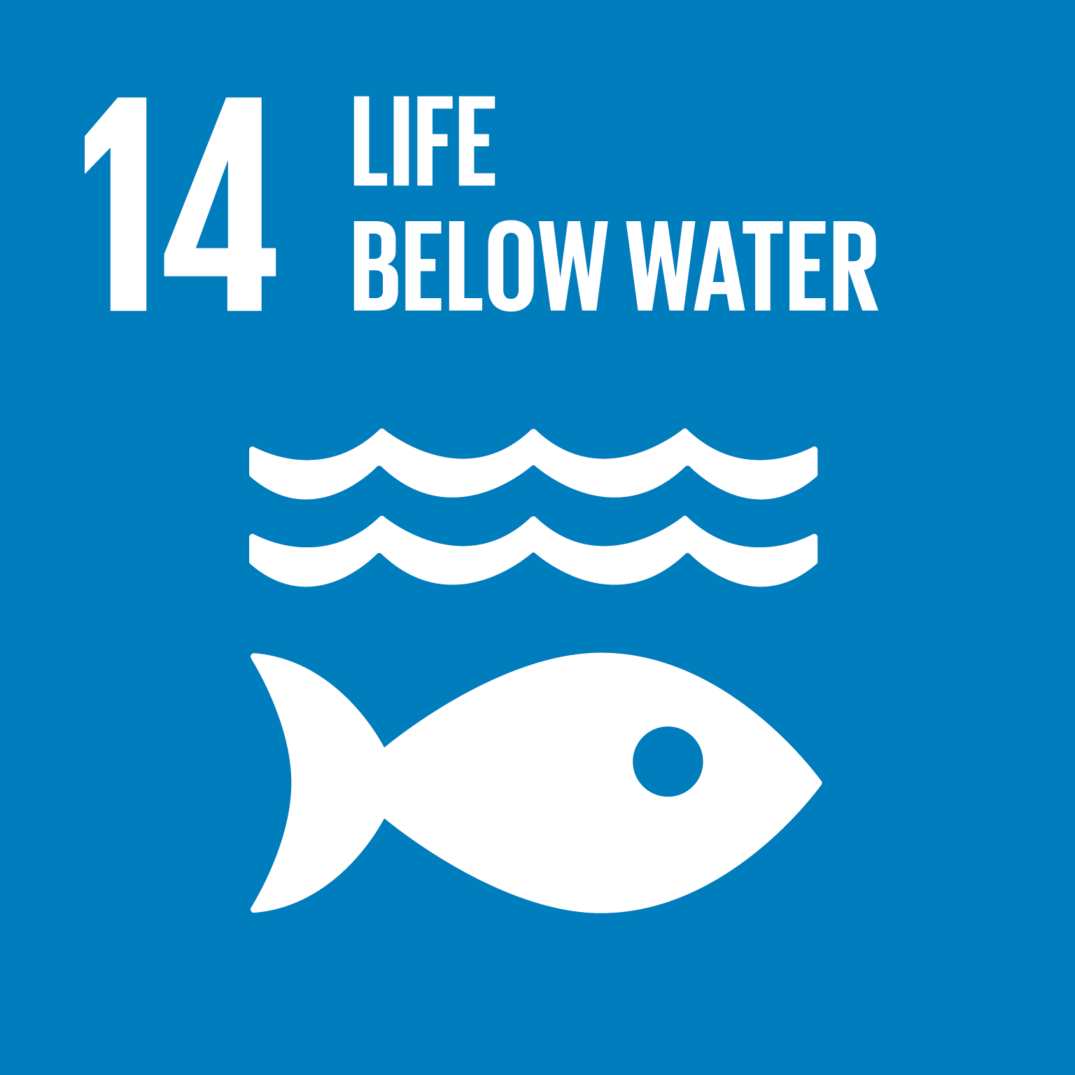 Sustainable Development Goal 14 icon