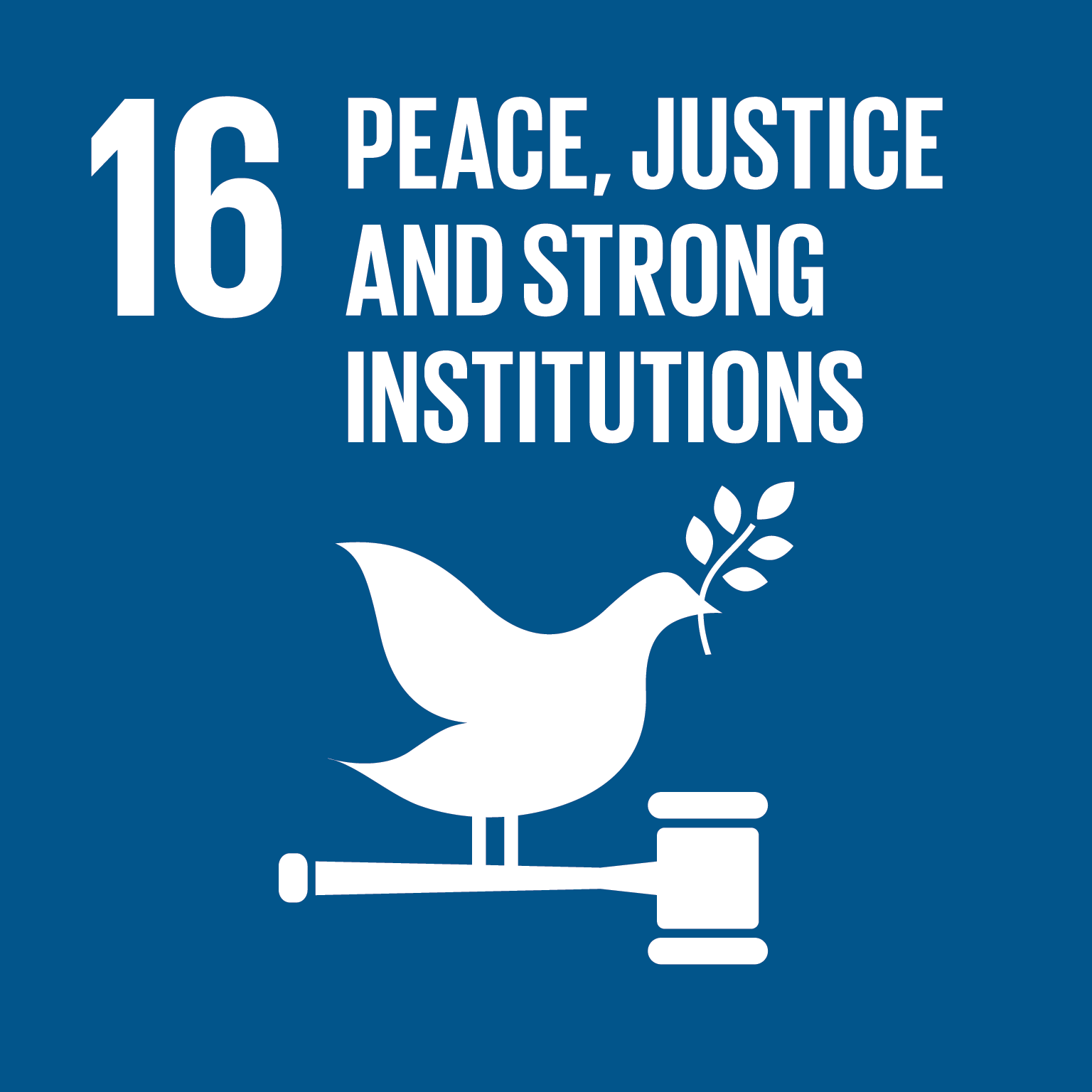 Sustainable Development Goal 16 icon